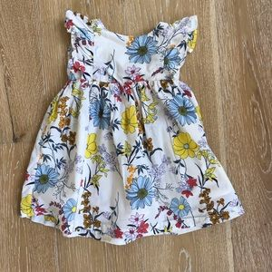 2t cotton floral Baby Gap dress EUC